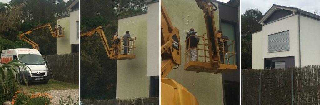 Netejar façanes mono-capa a cases